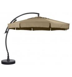 Sun Garden - Easy Sun zweefparasol Classic met flappen - Olefin Taupe doek