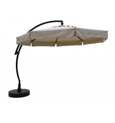 Sun Garden - Easy Sun zweefparasol Classic met flappen - Olefin Licht taupe doek