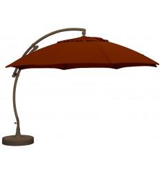 Sun Garden - Easy Sun zweefparasol XL Rond zonder flappen - Olefin Bordeauxrood doek