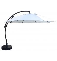 Sun Garden - Easy Sun zweefparasol XL Rond zonder flappen - Olefin Licht grijs doek