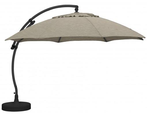 Sun Garden - Easy Sun zweefparasol XL Rond zonder flappen - Polyester Taupe doek