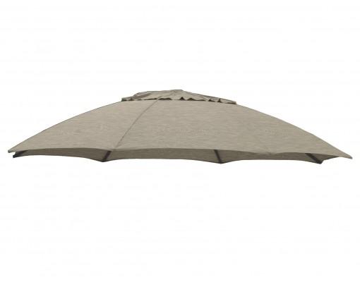 Polyester Taupe vervangingsdoek voor Easy Sun parasol 375