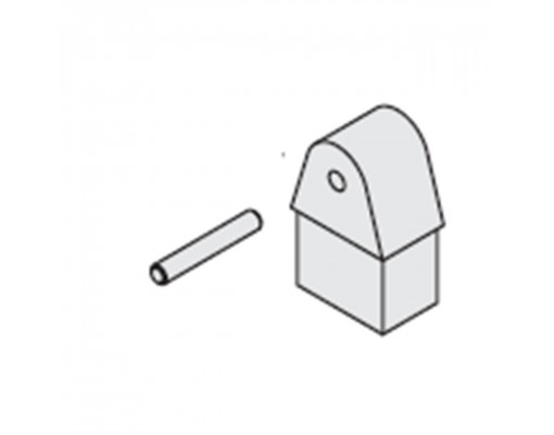 Halve maan en standaard as (witte) voor Easy Sun parasol
