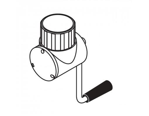 Volledig antraciet katrolsysteem voor Easy Sun - Sun Garden parasol