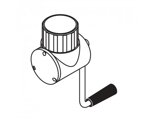 Volledig wit katrolsysteem voor Easy Sun - Sun Garden parasol