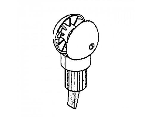 Antraciet remsysteem zonder stuurbuis 320 voor Easy Sun - Sun Garden parasol