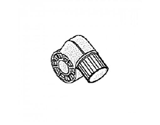 Volledig kopstuk met buis en remblok (Wit) voor Easy Sun parasol