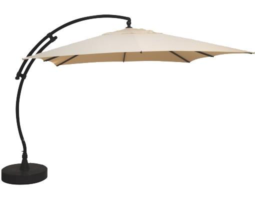 Sun Garden - Easy Sun zweefparasol Vierkant zonder flappen - Olefin Beige doek
