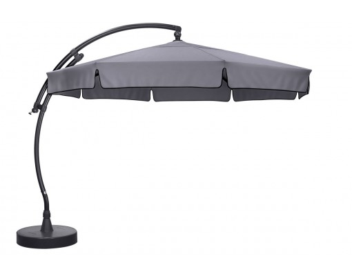 Sun Garden - Easy Sun zweefparasol Classic 350 met flappen - Olefin Titanium doek