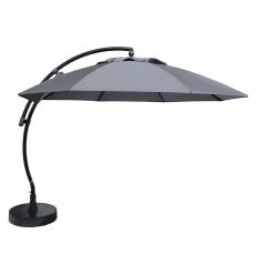 Sun Garden - Easy Sun zweefparasol XL Rond zonder flappen - Olefin Titanium doek