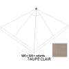 Olefin Licht Taupe vervangingsdoek met zijflap voor Easy Sun parasol 320