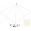 Olefin Beige vervangingsdoek met zijflap voor Easy Sun parasol 320
