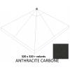 Olefin Antraciet vervangingsdoek met zijflap voor Easy Sun parasol 320
