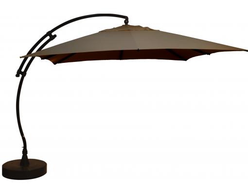 Sun Garden - Easy Sun zweefparasol Vierkant zonder flappen - Olefin Taupe doek