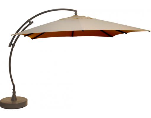 Sun Garden - Easy Sun zweefparasol Vierkant zonder flappen - Olefin Licht Taupe doek