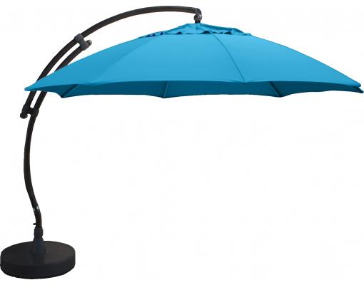 Sun Garden - Easy Sun zweefparasol XL rond zonder flappen - Olefin Petroleum Blauw doek