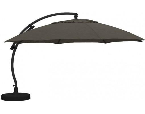 Sun Garden - Easy Sun zweefparasol XL Rond zonder flappen - Olefin licht Taupe doek