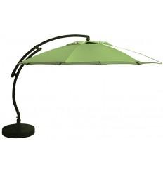 Sun Garden - Easy Sun zweefparasol XL Rond zonder flappen - Olefin olijve groen doek