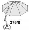 VOOR XL 375! Volledige baleinespaak-kit (anthraciet) voor Easy Sun - Sun Garden parasol