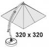 Set baleinespaken 320 (wit) voor Easy Sun parasol