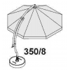 Set baleinespaken 350 (wit) voor Easy Sun parasol