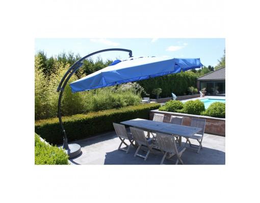 Sun Garden - Easy Sun zweefparasol Classic 350 met flappen - Olefin petroleum blauw doek