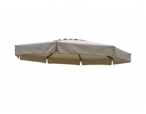 Polyester taupe vervangingsdoek voor Easy Sun parasol 350